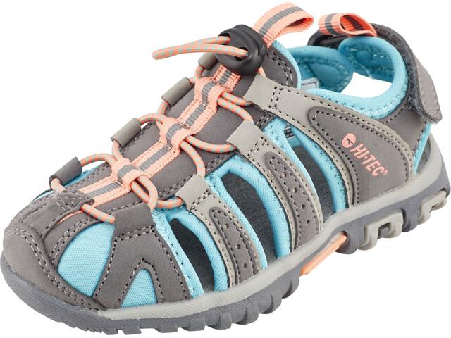 Hi-Tec Cove Sandals Kinder cool grey/curacao blue/papaya punch